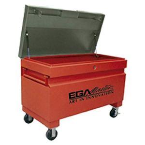 Ega Master 50991 – Coffre De Rangement Metallique 1220*615*720 Avec Roues