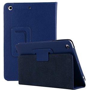 elecfan 9.7 pouces iPad Air 2 Housse, Conception Unique Légère Scratch Housse de Protection avec Fonction Stand pour iPad Air/Air 2/2017/2018 Nouveau iPad Exclusif Housse de Protection – Bleu Foncé