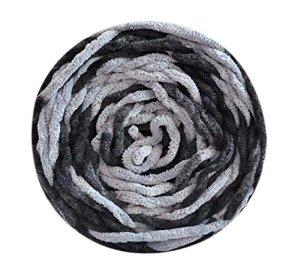 Ensemble de 3 fils de coton tricotés Écharpe tissée à la main, fils mous, doux, Noir