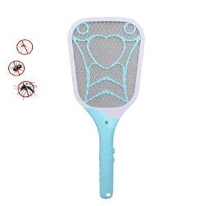 ÉPM Raquette Electrique Insectes,Raquette Anti-Moustiquaire électrique Bug Zapper Moustiquaire Moustiquaire USB Rechargeable sans odeurs Convient pour l'intérieur et l'extérieur – Bleu