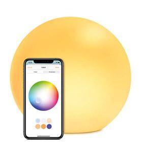 Eve Flare – Lampe LED Intelligente Portable avec Technologie Apple HomeKit, Protection IP65 pour la Résistance à l'Eau et Chargement sans Fil