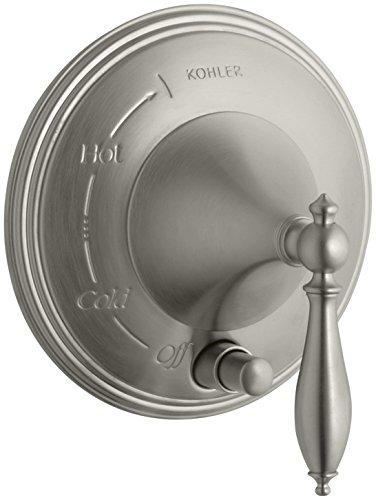 Fleuron 253t traditionnel Pressure-balancing Trim de valve avec poignée à levier et accents de finition polie Vibrant Brushed Nickel