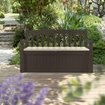 Garden Bench Marron Keter Coffre