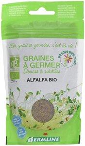 Germ'Line Graines à Germer Alfalfa bio -150 g – Lot de 3