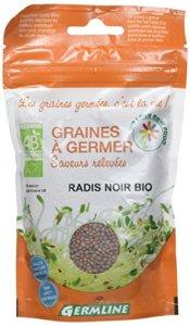 Germ'Line Graines Radis Noir à Germer BIO 150 g – Lot de 2