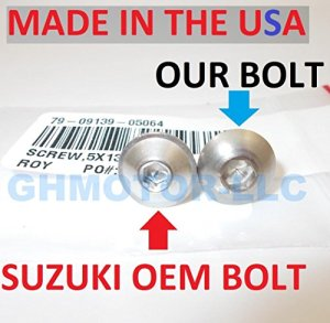Ghmotor 20032004200520062007Suzuki Hayabusa Gsx1300r Complete OEM Style Carénage Boulons Attaches Vis kit Ensemble Made in USA Argent