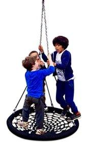 Grand Luxe Nest 'Group-play' arbre balançoire pour enfants, toute la famille jouer et les grands Fun–Awesome Swinging aventure et luxueux balançoires Relaxation pour jardin et Woodland–120cm de diamètre