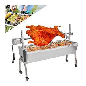 Gril de rôtisserie de barbecue de 20 W, grand foyer extérieur de rôtissoire de jardinage, 88 livres portant la machine de rôtissoire de broche d'agneau portatif de barbecue pour le camping