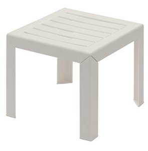 GROSFILLEX Miami Table, Blanc, 40 x 40 cm