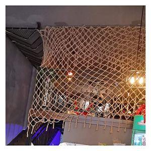 GZHENH-Telone Telo Copertura Filet De Protection Filet Décoratif Tentures Murales Décor Net Matériau De Jute Naturel Style Rétro Pliable, Anti-âge, Personnalisable (Color : Beige-10cm, Size : 5x5m)