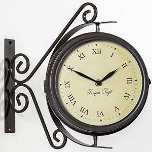 Horloge de Gare Extérieur pivotante avec Thermomètre – 31.5cm