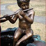 H.Packmor GmbH Sculpture bronze Fontaine avec enfants Décoration de jardin Décoration de bassin en bronze