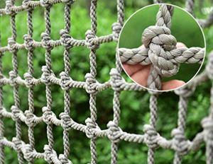 HSTFR Filet de Corde de Chanvre pour Enfants Extérieur, Jardin d'enfants Aire de Jeux Attractions touristiques Jeu Formation Réseau d'escalade Échelle de Camion Lourd Escaliers en Corde Balcon