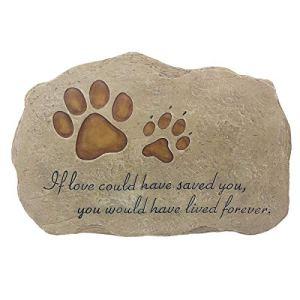 JSYS Pierre commémorative pour Animal Domestique marqueur pour Chien ou Chat pour Jardin, Cour, ou sur la pelouse.