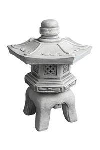 Lanterne Japonaise Yukimi OKI Gata en pierre Fonte au gel, gris, 40 cm