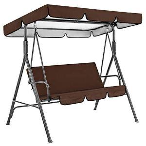 Lot de 2 housses de balançoire de jardin imperméables pour balancelle et balancelle pour extérieur de jardin, porche, cour (café)