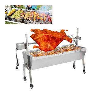 Machine de rôtissage de charbon de bois de rôtissoire de rôtissoire de barbecue 30W 200KGF Machine de rôtissage de porc de rôtissoire d'agneau de qualité en inoxydable pour pique-nique en plein air