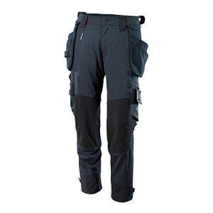 Mascot 17031-311-010-82C68 Pantalon avec poches genouillères Dyneema, Taille 82C68, Noir/bleu