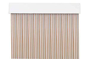MercuryTextil P69 Rideau de Porte PVC 210 x 90 cm Transparent + Fil Marron Clair