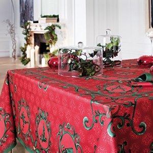 Nappe rectangulaire «Winter» – Coloris rouge – Taille 170 x 240 cm – Lot de 1