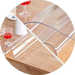 Nappe transparente Table Cover Protector PVC transparent Nappe antidérapante imperméable Table basse rectangulaire pas de bulles, 2 Epaisseurs, taille peut être personnalisé (couleur: 2 mm, Taille: 13