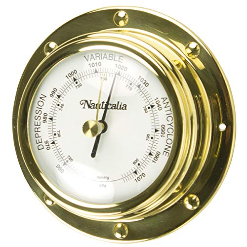 Nauticalia Baromètre à Rivets en Laiton 10 cm