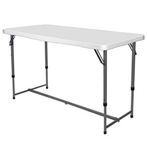 Nestling® Table Pliante,Table en Plastique Robuste, Table Pliante Transportable, Table en Plastique,Table rectangulaire (120 x 61 x 96 cm)