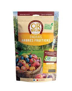 Or brun Engrais Arbres fruitiers granulés UAB, Sachet de 1,5kg