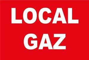 Panneau «Local gaz»