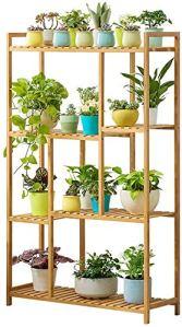 Porte-étagère en bois massif Jardinière de stockage de pot de fleur salon balcon intérieur terrasse plante porte décoration bonsaïs,Wood
