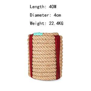 Q Rope Corde de tir à la Corde – Corde de Chanvre, diamètre 4cm, 15M, 20M, 25M, 30M, 40M, 50M, Corde de tir à la Corde, Adulte, Sports de Plein air