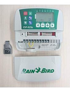 Rain Bird RZXe4i 230 Programmateur 230 V 4 Stations, Blanc/Vert, 3,90 x 20,1 x 19,9