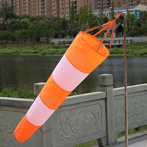 Rip-Stop Manche à air aéroport Wind Mesure Wind Sock Sac avec ceinture réfléchissante, résistant aux intempéries Girouette Drapeau, 80cm