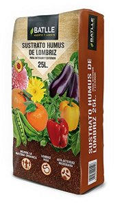 Semillas Batlle 960037pic substrat humus LOMBRIZ, 25L