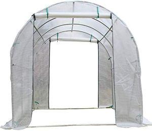 SOAR Serre de Jardin Grande Serre de Tomate Maison de Culture, PE Couverture Walk-in Hothouse avec Full Frame en Acier et Deux Portes Fermeture à glissière, 300 x 200 x 175 cm