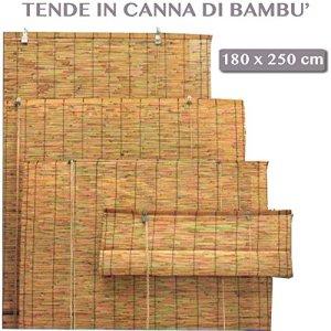 Store enrouleur en bambou pour ameublement extérieur 180x250cm
