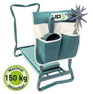 UPP Tabouret de jardin I Siège de jardinier pliable I tabouret extérieur de jardin I repose genoux de jardin I supporte jusqu'à 150kg