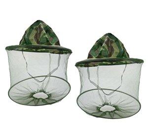 Westeng Apiculteur Chapeau en maille Patten Apiculture Masque Camouflage visage Chapeau de protection anti moustique Lot de 2
