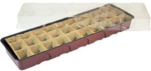 Windhager Serre d'intérieur, serre de Rebord de fenêtre avec 30pots de semis, Terracotta/anthracite, 16,5x 54,4x 12cm, 06840