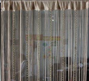Yiyida Globe Perles Rideau moustiquaire Store Tassel String Porte intercalaire Rideaux 1m Largeur 2m Drop un panneau