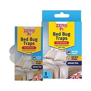 Zero In Lot de 3 pièges à punaises de lit (traitement à usage domestique, efficace, sans substances toxiques, tue les punaises de lit, protège jusqu'à 60jours)