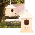 A sixx Maison d'oiseau en Bois, élégante et Belle boîte de Nidification d'oiseau en Bois Bricolage, pour Tous Les Amoureux des Petits Animaux