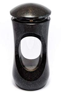 AFTERGLOW Classic Lampe funéraire élégante 25 cm Noir suédois
