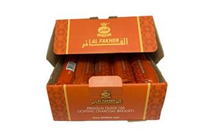 Al Fakher Chicha CHARBON DE BOIS Auto-Allumant Paquet de 10 tubes – 100 charbons