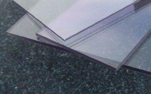 Alt-intech® Plaque en polycarbonate anti-UV Plusieurs tailles et épaisseurs Transparent, PC 4 mm UV, 500 x 400