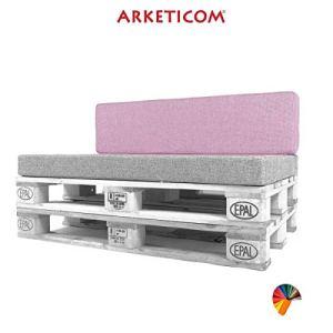 Arketicom Pallett-One Coussin pour dossier de canapé Différentes tailles et couleurs pour intérieur/extérieur Fabriqué en Italie 80x30x15 Lilla Glicine