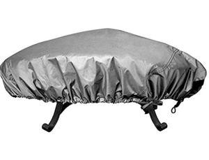 Asiacreate Housse ronde imperméable pour foyer de cheminée 111,8 cm 44″ gris
