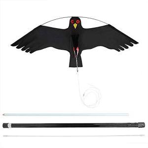 Atyhao Répulsif à Oiseaux Extensible Fly Kite Birds Repellent Scarer avec 7 m de mât pour Les répulsifs antiparasitaires des rizières
