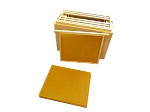 Beekeeping Supplies UK Lot de 10 Feuilles de Fond de Teint sans Fil pour boîtes de couloirs Britanniques 14 x 12 cm