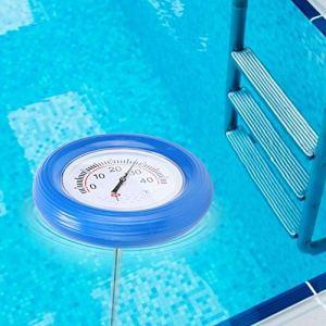 Bicaquu Thermomètre de Piscine, thermomètre Flottant, Compteur de température de Piscine Flottant étanche Facile à Utiliser pour l'étang de Poissons d'aquarium de Piscine extérieure